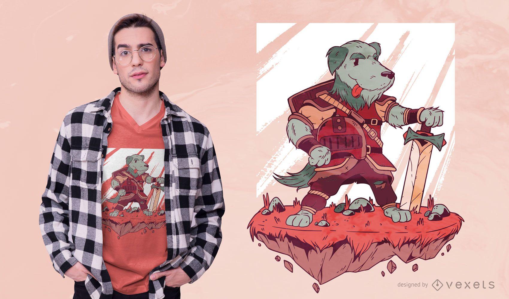 Dog Warrior T-shirt Design