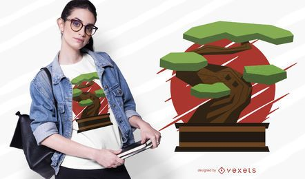 Design de t-shirt de bonsai