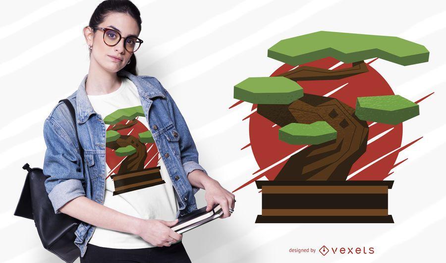 Design de t-shirt de bonsai
