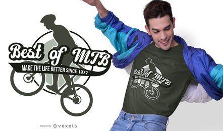 Diseño de camiseta de cita de bicicleta de montaña