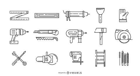 Handyman Stroke Icon Set