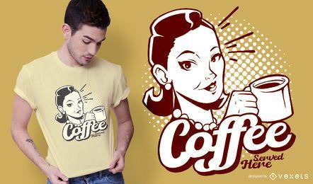 Vintager Kaffeet-shirt Entwurf