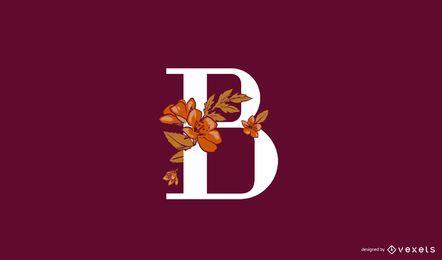 Blumenbuchstabe b Logo Vorlage