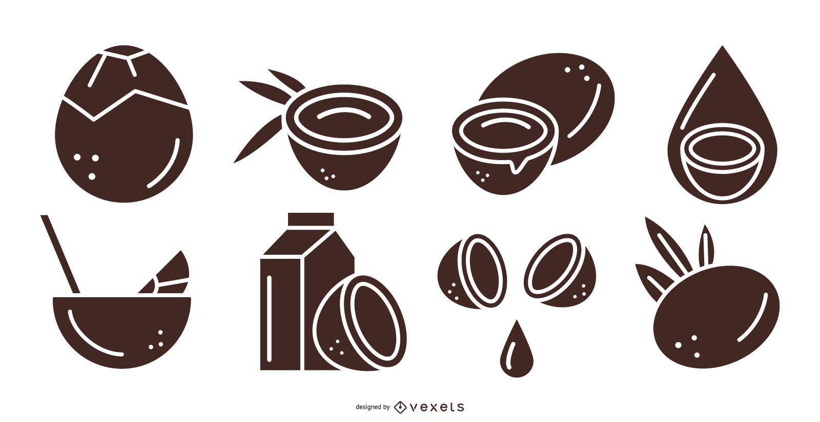 Coconut products black set