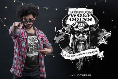 Odin's Wolf German Quote T-shirt Design