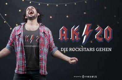 Diseño de camiseta alemana de graduación
