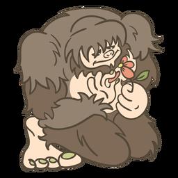 Ilustración de criatura mítica Bigfoot