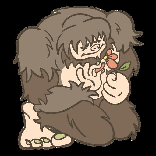 Ilustración de criatura mítica Bigfoot Transparent PNG