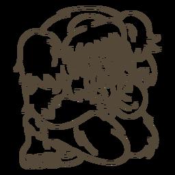 Ilustración de trazo de Bigfoot