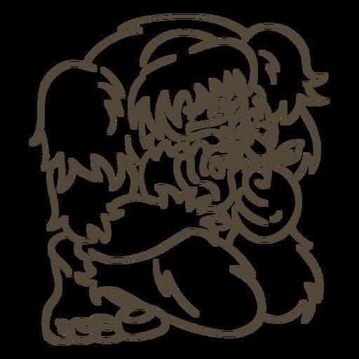 Ilustración de trazo de Bigfoot Transparent PNG