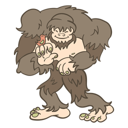 Folk animal bigfoot illustration
