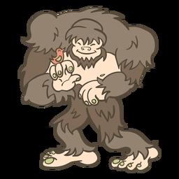 Ilustração de animal folk bigfoot