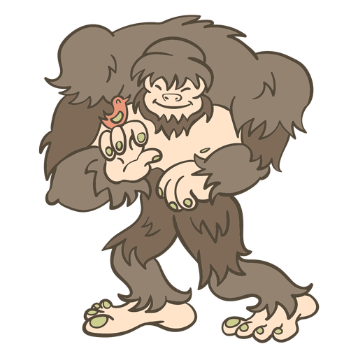 Folk animal bigfoot illustration Transparent PNG