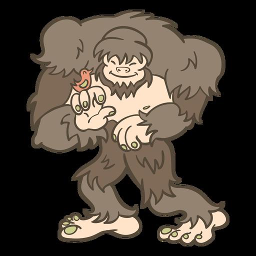 Ilustración de bigfoot animal popular Transparent PNG