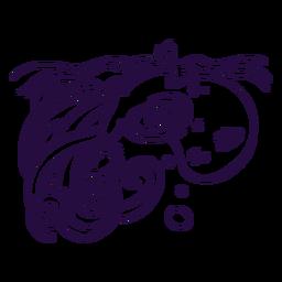 Ilustración de trazo de Kraken