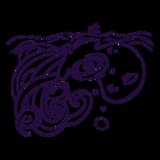 Ilustración de trazo de Kraken Transparent PNG
