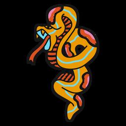 Ilustración feroz de serpiente de la vieja escuela
