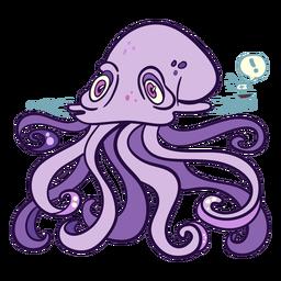 Ilustración de kraken de animales marinos