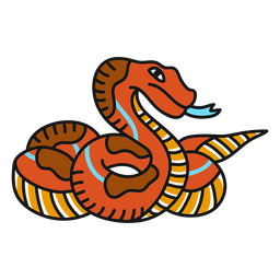 Snake old school illustration