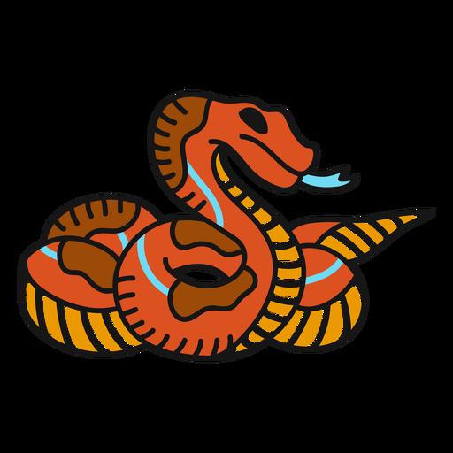 Snake old school illustration Transparent PNG