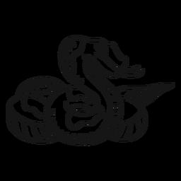 Ilustración de trazo de reptil serpiente
