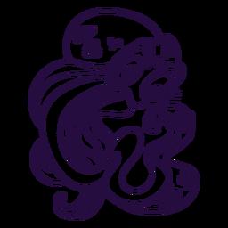 Ilustración de trazo kraken