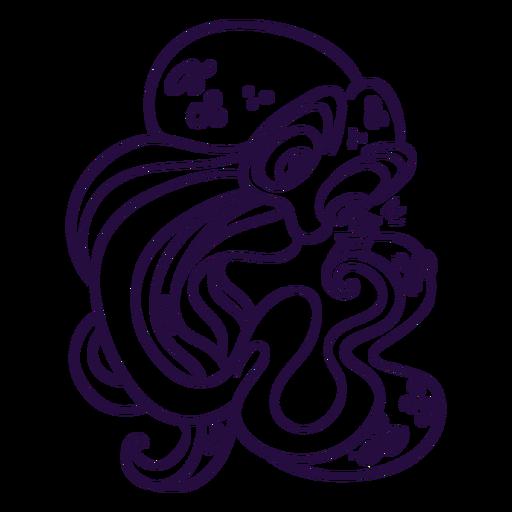 Ilustración de trazo kraken Transparent PNG