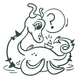 Ilustração de criatura de mar de acidente vascular cerebral