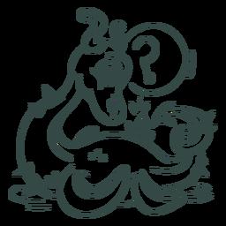 Ilustración de criatura marina de trazo