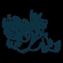 Ilustração de yeti de acidente vascular cerebral