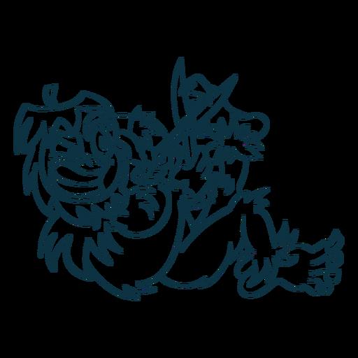 Ilustración de yeti de trazo Transparent PNG