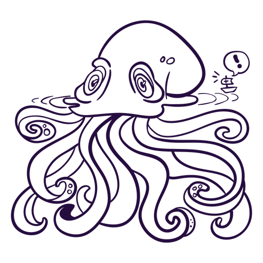 Ilustración de criatura marina kraken incolora Transparent PNG