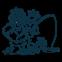 Ilustración de criatura yeti
