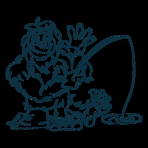Ilustración de criatura yeti Transparent PNG