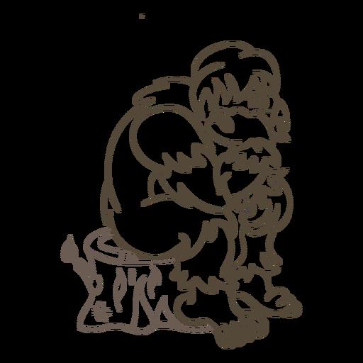 Ilustración de trazo de yeti Transparent PNG