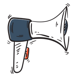 Icono de Doodle de megáfono