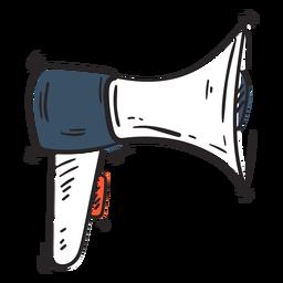 Icono de megáfono doodle