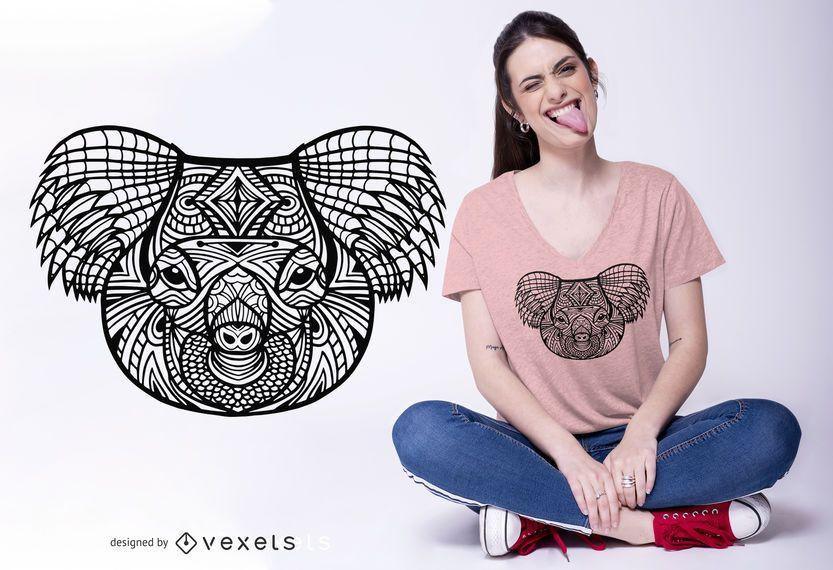 Mandala Koala T-shirt Design