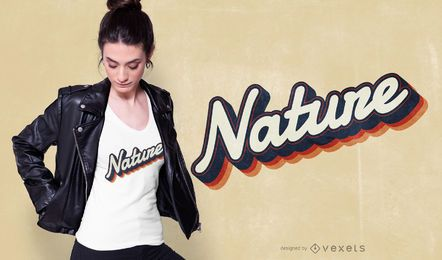 Nature Lettering T-shirt Design