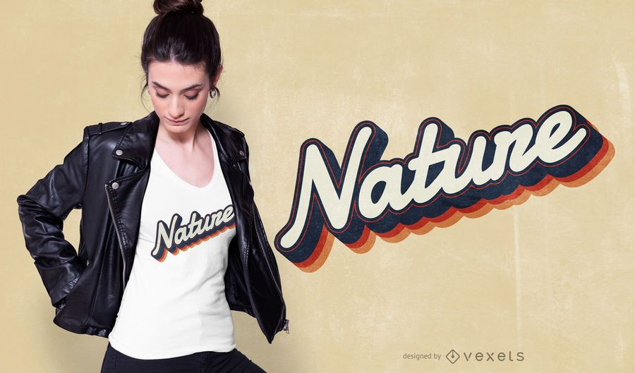 Nature Lettering T-shirt Design