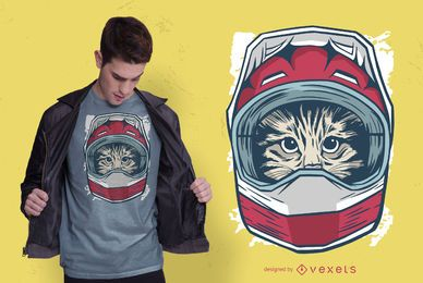 Projeto do t-shirt do motorista do gato