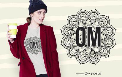 Mandala Om Design de t-shirt