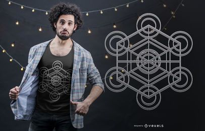 Projeto do t-shirt do cubo de Metatron