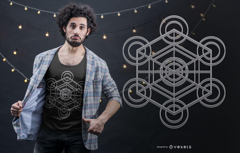 Metatron Cube T-shirt Design