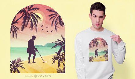 Design de t-shirt de caçador de ouro