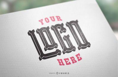 Maquete de papel do logotipo