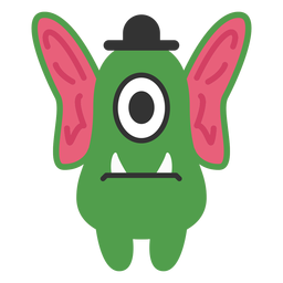 Big ears monster cartoon
