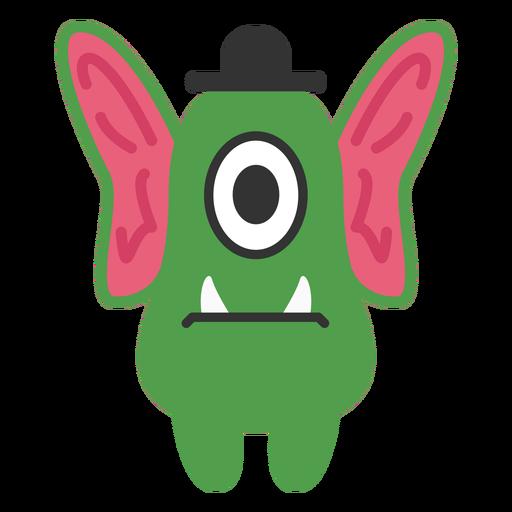 Dibujos animados de monstruo de orejas grandes Transparent PNG