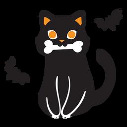Dibujos animados de gato negro