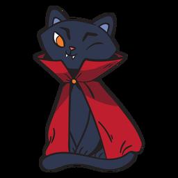 Black cat dracula cartoon